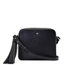 ANYA HINDMARCH - Smiley Wink Crossbody circus in Black - Black