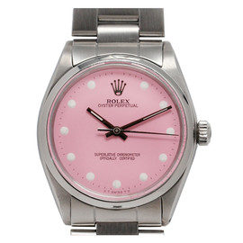 ROLEX - Oyster Perpetual Wristwatch with custom Peppermint Stick Dial circa 1985