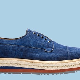 PRADA - Denim Lace-Up Shoes