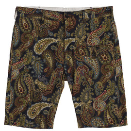 Engineered Garments - Ghurka Short,Navy Paisley Print