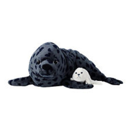 """IKEA Seal - 28"""" Spotted Seal With Baby Seal Klappar Sal Plush Soft Set of 2 Rare Ikea a3"""