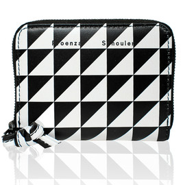 PROENZA SCHOULER - Zip Card Wallet Triangle Print