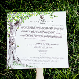The Wedding Chicks - tree wedding program