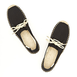 Soludos - Espadrille Lace Up Flat in Black