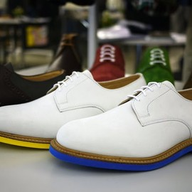 Mark McNairy New Amsterdam - White Suede Derby Shoes