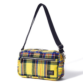"""HEAD PORTER - """"LESSON"""" 2WAY POUCH YELLOW"""