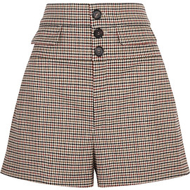 Chloé - FW2015 High-rise houndstooth wool-blend tweed shorts