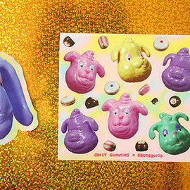 Jelly Gummies - Dessert en plastique brillant chiens vinyle autocollant pack