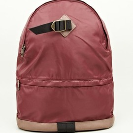 A.P.C. - Burgundy Nylon Backpack