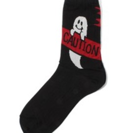 Candy Stripper - CAUTION GHOST SHORT SOCKS