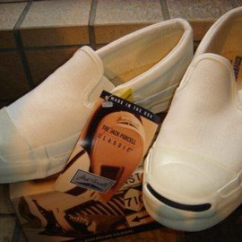 CONVERSE - JACK PURCELL SLIP-ON / WHITE / MADE IN USA / DEAD STOCK