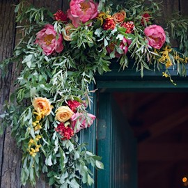 flowers in the doorway...