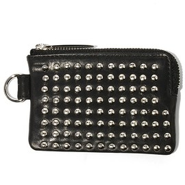 PATRICK STEPHAN - Leather coin case 'all-studs'