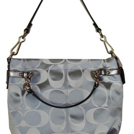 Coach - Authentic Coach 17183 Sateen Signature Brooke Hobo Bag