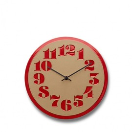 Heath Ceramics × House Industries - Stencil Clock, Campari Red