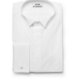 Acne - Jives Slim-Fit Piqué-Collar Cotton Tuxedo Shirt