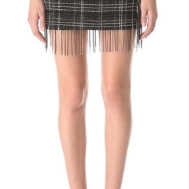 Jay Ahr - Chain Embroidered Miniskirt