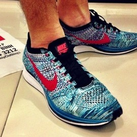 Nike - Flyknit Racer - Neo Turquoise/Bright Crimson/Glacier Ice