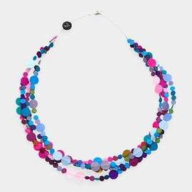 Diana Schimmel - Multicolor Spot 3Str P/B Necklace
