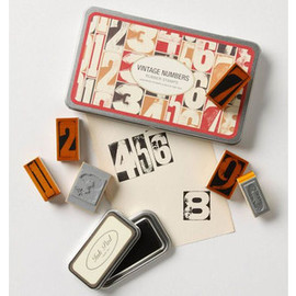 Anthropologie - Vintage Numbers Stamp Set