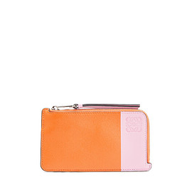 LOEWE - Color Block Coin Card Holder orange/candy