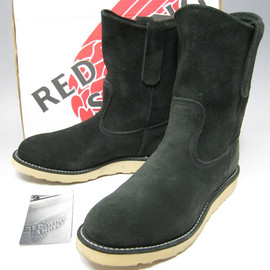 RED WING - PECOS BLACK SUEDE