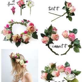 flower - How to make Dolce & Gabbana  Floral Crown