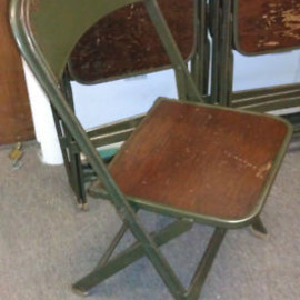 WOOD SEAT FOLDING CHAIR
