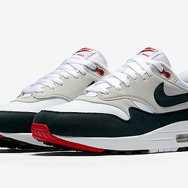 NIKE - Air Max 1 Anniversary - White/Dark Obsidian/Natural Grey/Black