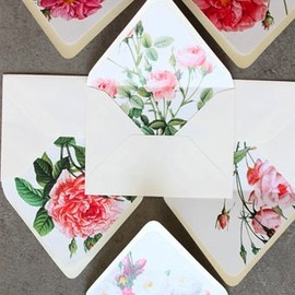 sideshow press - flower envelopes