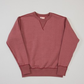 THE REAL McCOY'S - BURGUNDY SWEAT
