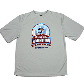 Disney - 2009 Disneyland Mickey Mouse 1/2 Marathon Running Shirt Mens Size Small