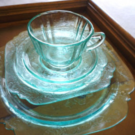 Federal glass company - madrid cup&saucer