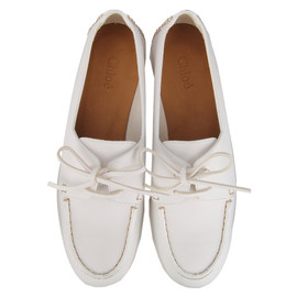 Chloe - WHITE LACE UP SHOES