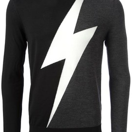 Neil Barrett - Lightning Pattern Sweater