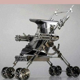 """Tactical stroller"" - The assault weapon for mothers with small children."