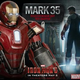 The Mark 35 Red Snapper armor from Marvel's Iron Man 3