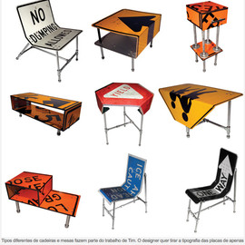 Tim Delger - Road Sign Furniture