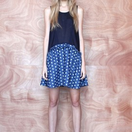 KAREN WALKER - Resort 2013 A-Line Frill Dress