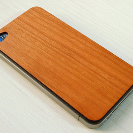 grandmaswoodentooth - Real Cherry Wood iPhone Skin Sticker