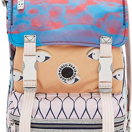KENZO - Peach Signature Prints Urban Backpack
