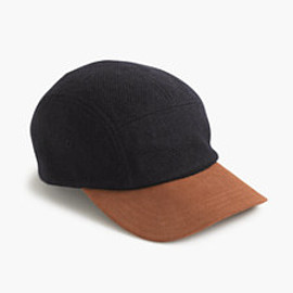 J.CREW - Five-panel wool and suede baseball cap