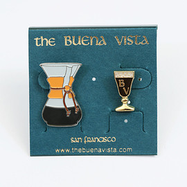 The Buena Vista - Chemex + Irishi Coffee Pin Set