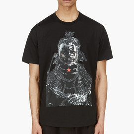 GIVENCHY by Riccardo Tisci - Black WATER PRINT T-shirt