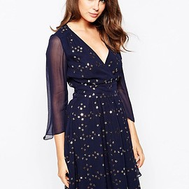asos - French Connection Million Stars Embellished Dress