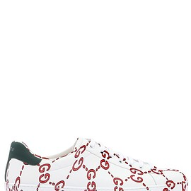 GUCCI - SS2018 NEW ACE GG PRINTED LEATHER SNEAKERS