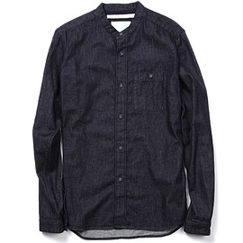 White Mountaineering - 6Oz. DENIM STAND COLLAR SHIRT