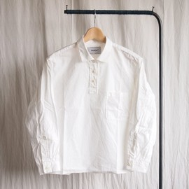 YAECA - Wide Shirt Pullover #white