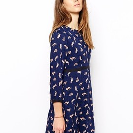 Paul & Joe Sister -  Paul & Joe Sister Dress in Fox Print