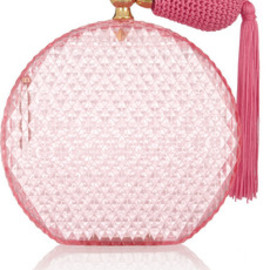 Charlotte Olympia - Pink Scent perfume bottle perspex clutch